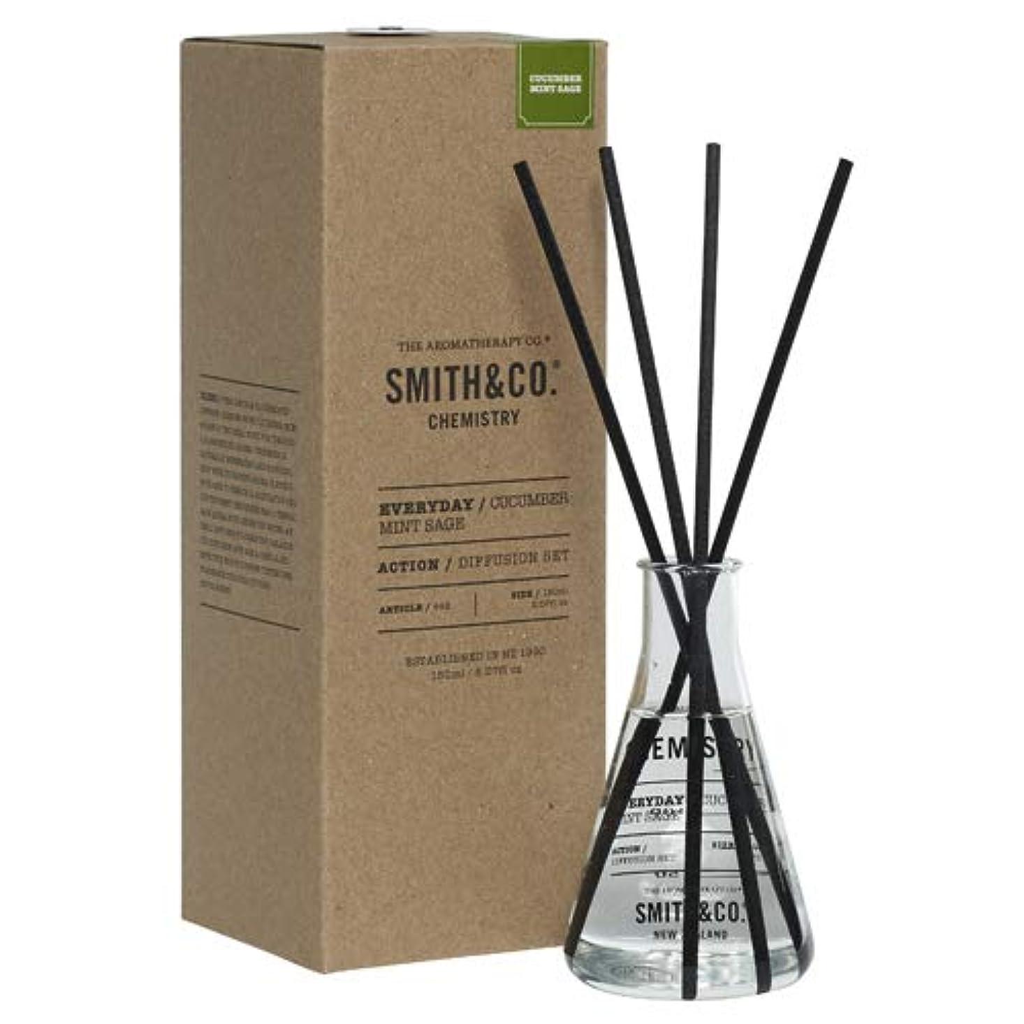 作曲する夕暮れ安全性アロマセラピーカンパニー(Aromatherapy Company) Smith&Co. スミスアンドコー Chemistry Diffuser ケミストリーディフューザー Cucumber Mint Sage キューカンバー ミント セージ