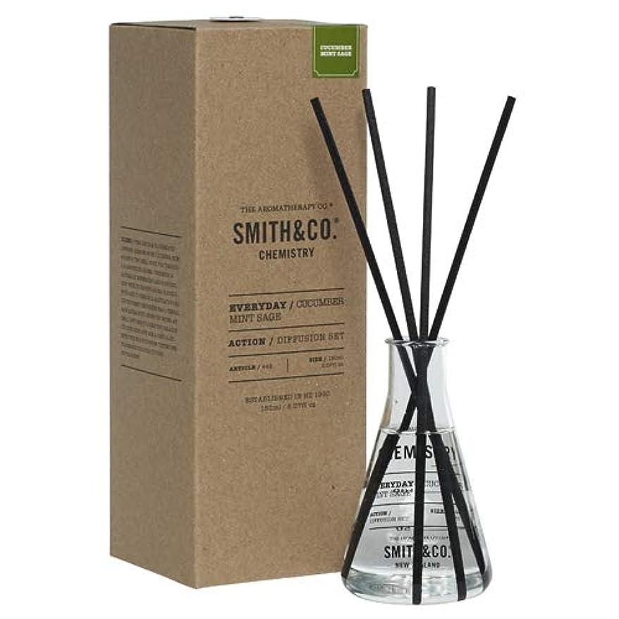 カプラー裁量乳剤Smith&Co. スミスアンドコー Chemistry Diffuser ケミストリーディフューザー Cucumber Mint Sage キューカンバー ミント セージ