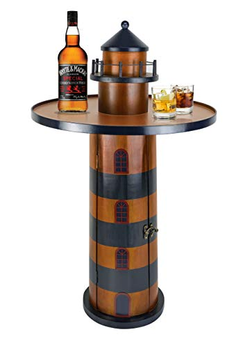 Wooden Lighthouse Round Side Table
