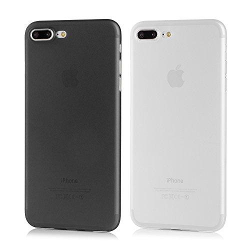 QUADOCTA 2 X iPhone 8 Plus (5,5') Premium Ultra Slim Cover – Cover – Tenuis in bianco e nero – Custodia sottile – Smart Cover compatibile con Apple iPhone8Plus con protezione per fotocamera