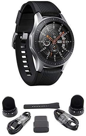 Samsung Galaxy Watch (Bluetooth), US Version Bundle with 2 Charging Docks (Renewed) (Silver, 46mm)