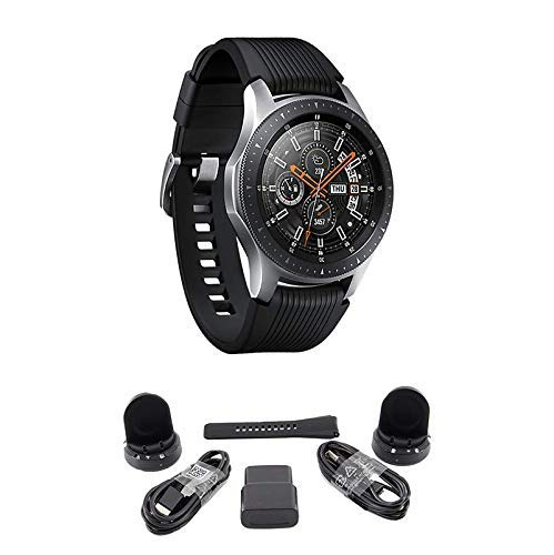 Samsung Galaxy Watch (Bluetooth), US Version Bundle with 2 Charging Docks (Renewed) (Silver, 46mm)
