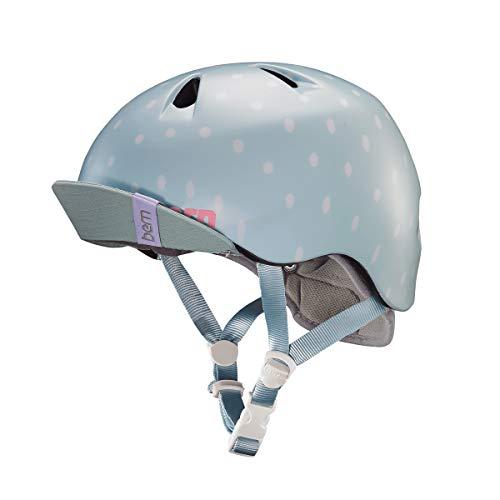 Product Image of the BERN, Kid's Nina Helmet with Flip Visor, Satin Seaglass Polka Dot, X-Small/Small