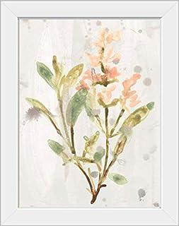 CANVAS ON DEMAND Antique Earthtone Herbs IV White Framed Art Print, 15