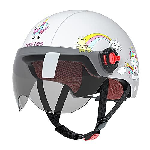 Casco para niños 45-53 CM casco de bicicleta de scooter eléctrico ajustable - para niños de 4 a 10 años, Material ABS + EPS / Lente HD, Casco de cuatro estaciones para deportes al aire libre,D