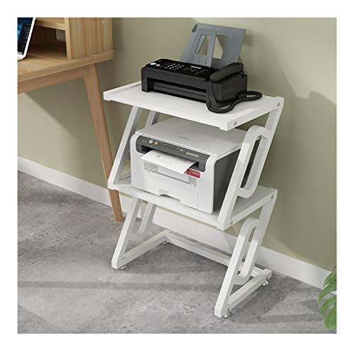 Carro de la impresora La creatividad de la impresora De pie, con los estantes de almacenamiento Tier estructura de acero, la madera multiuso Organizador for el espacio de almacenamiento Organizador co