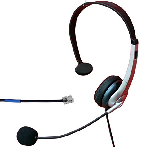 Voistek Corded Mono Over The Head Call Center Telephone RJ Headset Noise Cancelling Headphone with Microphone for Cisco 7941 7945 Office IP Phones and M10, M12, M22 & MX10 Amplifiers (K10CIS)