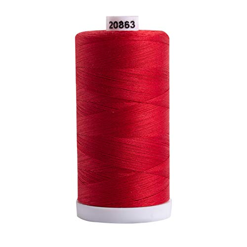 Connecting Threads 100% Cotton Thread - 1200 Yard Spool (Red)