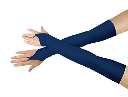 lucky baby store Mädchen 'Boys' Erwachsene Halloween Make-Up Fingerlose Über Elbow Cosplay Kostüm Handschuhe (navy blue)