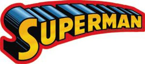 C&D Visionary Licenses Products DC Comics Superman Text Logo Sticker