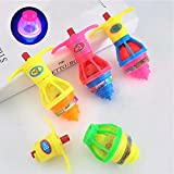 20Pack LED Light up Flashing UFO Spinning Tops with Gyroscope Novelty Bulk Toys Goodie Bag Fillers for Boys and Girls Best Gift Choice Party Favors