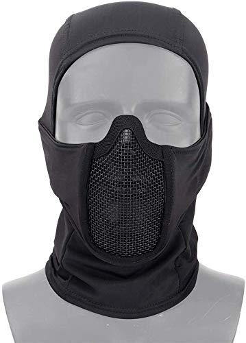 Máscaras tácticas de Malla Facial con pasamontañas Transpirable Equipo de protección de Cara Completa para Airsoft CS War Game BB Gun Hunting Paintball Actividades al Aire Libre en Interiores
