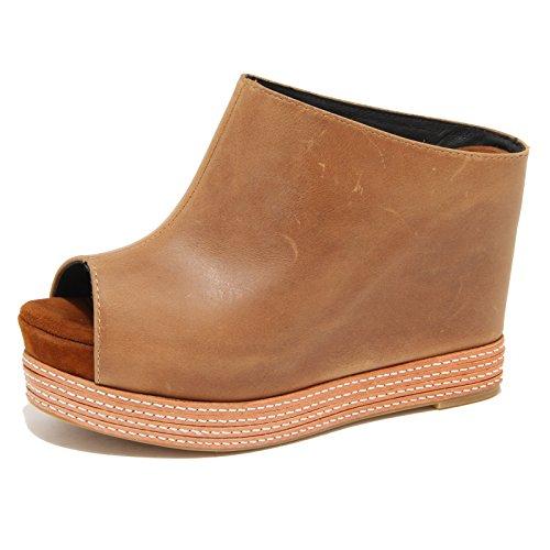 Jeffrey Campbell 8763N Sandalo Donna Zeppa Marrone Shoes Sandals Woman [40]