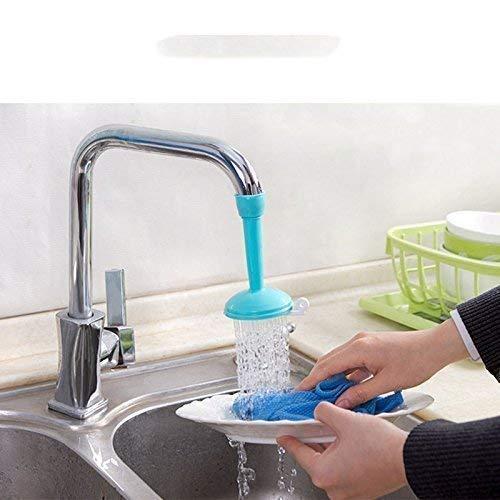 Ethereal Kitchen Faucet Plastic Adjustable Tap Extender, Sink Tap Shower Head Nozzle Saving Water for Kitchen Water Outlet Shower Head Water Filter Sprinkler (Multicolor)