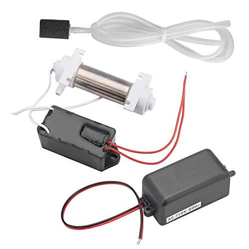 OKBY Generador de ozono - Tubo generador de ozono ozonizador de 500 MG con Accesorios para esterilización de purificador de Aire doméstico(110 V)
