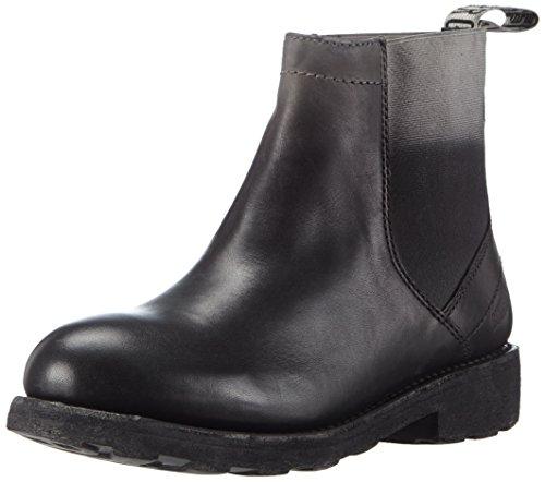 BIKKEMBERGS Damen 990930 Kurzschaft Stiefel, Schwarz (schwarz/grau), 38 EU