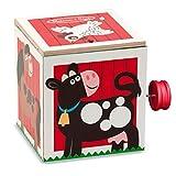 Boîtes à musique et figurines Pop Classique Secouer Music Box Main Surprise Bouncing Music Farm Box Hide Chat Nouvel An Musique Gift Box Boîte à Musique (Color : Red)