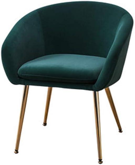 Chaise de Salle à Manger Moderne lumière Simple ménage accoudoir en métal Chaise Loisirs Chaise en Fer forgé-4 4