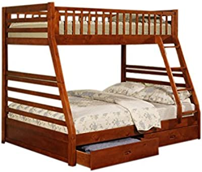 Amazon Com Harper Bright Designs Twin Over Full Bunk Bed With