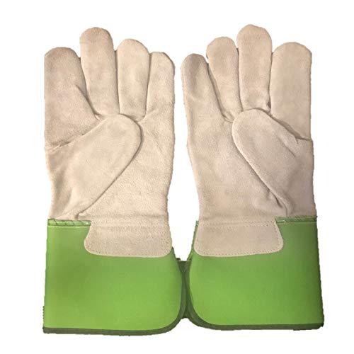 PAPA GREEN'S® 'Willow' Gardening Gloves - Heavy Duty Garden Gloves - Thorn Proof Leather Gloves - Working Gloves For Men-Leather Work Gloves - Leather Gardening Gloves For Men