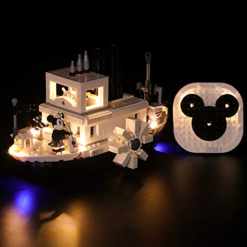 Nlne Kit De Iluminación Led para Lego Steamboat Willie-Compatible con Ladrillos De Construcción Lego Modelo 21317 (Juego De para Legos No Incluido),Classic Version