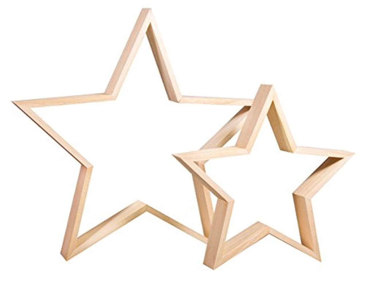 Rayher 62829000 Set of Wood.Frames Star, FSCMixCredit
