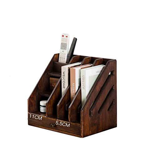 SHBV Librería Escritorio de Madera Maciza Estantería pequeña Hecha a Mano Retro Multifuncional Mini Estante de Almacenamiento Adecuado para Dormitorio Estudio Estantería de Sala de Estar Unidad