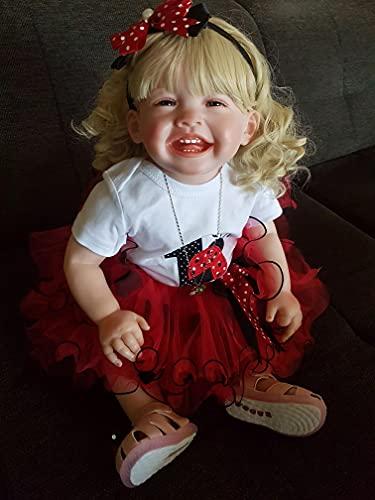 Pinky Reborn Mila Poupées Reborn Bébé Charmant Sourire 28 Pouce 68cm Reborn Poupées Reborn Toddler Doll Girl Big Baby Doll Fait à La Main Baby Doll