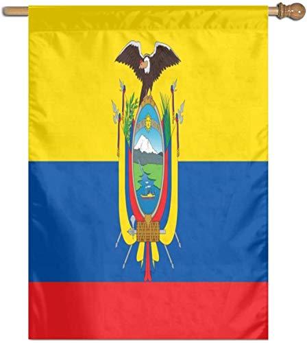 Jacklee Vlag van Ecuador Tuinvlaggen Duurzame Non-Fading Decoratieve Vlaggen Premium Verticale Huis Vlag Polyester Delicate Outdoor Banner voor Alle Seizoenen & Vakanties - 27