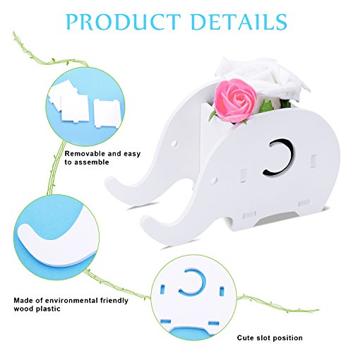 Desk Supplies Organiser, Cute Elephant Pen Pot Pencil Holder with Cell Phone Stand Tablet Desk Bracket Compatible Phone Smartphone, Multifunctional Office Desk Tidy Stationery Organiser Box
