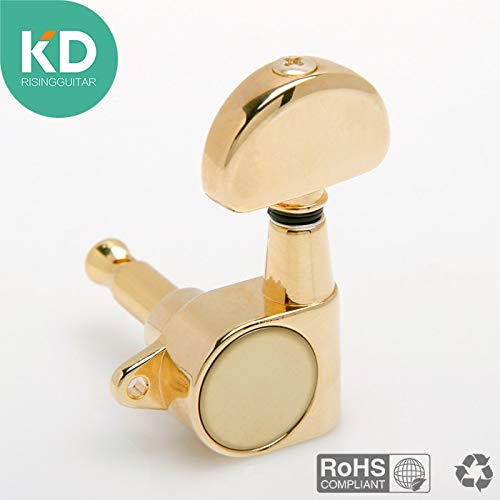Guitar Parts 1 Pcs Electric Guitar Tuning Peg, Acoustic Guitar Machine Tuning Key Ratio 1:18 Plated with Real Gold - (Color: R for 456 String)