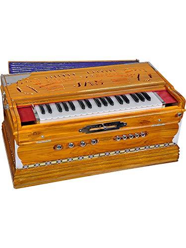 JAS Harmonium 9 Scale Changer Teak Wood 3 Sets of JAS English Reeds Standard