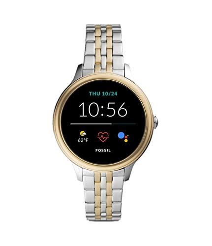 Fossil Connected Smartwatch Gen 5E para Mujer con Tecnología Wear OS de Google, Frecuencia Cardíaca, NFC y Notificaciones Smartwatch, Acero Inoxidable Bicolor