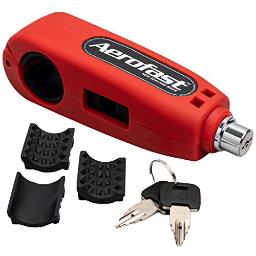 Motorcycle Throttle Handlebar Lock by Aerofast. Best Heavy Duty, Anti-Theft Portable Lock for Your...