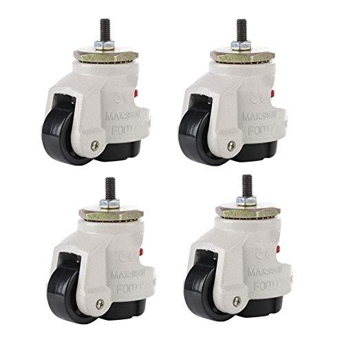 4 Stück Lenkrollen GD-40S Leveling Caster aus Nylon, für Möbel, Tisch, Rollen, Werkbank, Garage