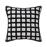 Woven Tufted Boho Throw Pillow, Case Modern Decorative Grid Cushion Cover Farmhouse Pillowcase for Couch Sofa Bedroom Cushion Cover