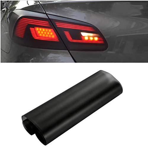 Globents Klebefolie für Autoscheinwerfer und -rückleuchten, selbstklebend, getöntes Vinyl, schwarz, transparent,30 * 150 cm