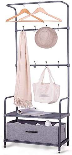 TZSYHJ Coat Rack Cabinet trend rank Seattle Mall Type Double 2 Adjustab Layer Hook Frame