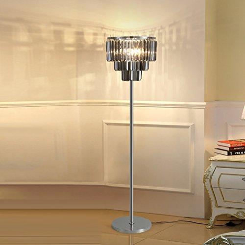 Stehende Stehlampen Luxuxkristallglas Stehleuchte Schlafzimmer Einfache moderne Studie Led Stehleuchte Kreative Wohnzimmer Couchtisch Lampe Vertikal Lampe Lampen Beleuchtung Stehleuchten ( Color : A )