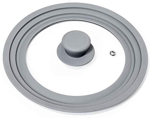 Oishii Lidmaster - Coperchio in Vetro Universale per padelle e pentole con Ø di 18, 20, 22cm