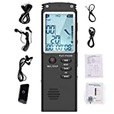 Zinniaya Voice Activated Mini Digital Sound Audio Recorder Dictaphone MP3 Player Large Screen