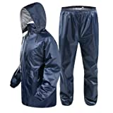 MAGIC Girl's Bike/Scooter Water Proof Blue Plain Rain Coat with Bag Medium (Blue)