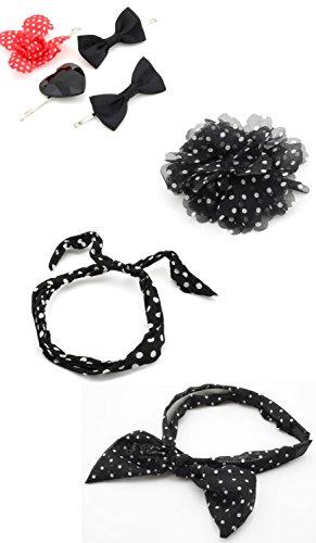 Zest 4 Spot Pois mixtes Accessoires Cheveux élastiques Serre-tête Clip Fleur