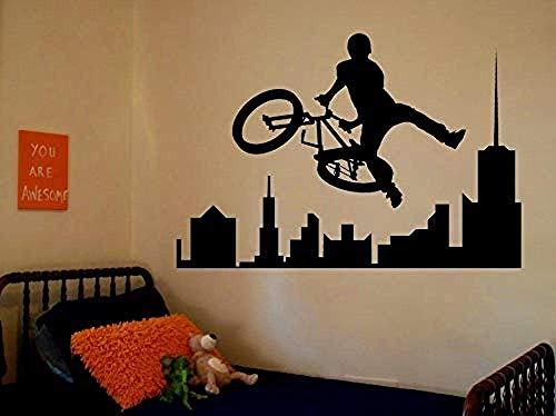 Wandaufkleber Abnehmbare Erstaunliche Sport Abziehbilder Sport Bike Zimmer Schlafzimmer Dekorieren Ideen Aufkleber Wände Kinder Jungen Zimmer Kleber 42X60 Cm