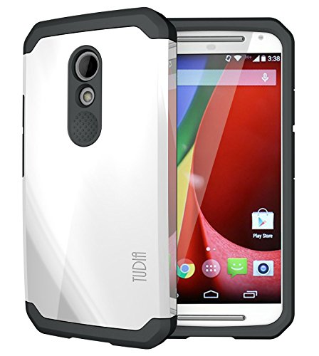 TUDIA Slim-Fit CYGEN Dual Layer Protective Case for Motorola Moto G (2nd Gen 2014 Released ONLY) (Pearl White)