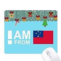 私はサモア諸島から ゲーム用スライドゴムのマウスパッドクリスマス
