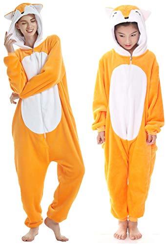 Pigiama per Adulti, Unisex, Motivo Unicorno, Adatto per Halloween, Carnevale Fox. XXX-Large