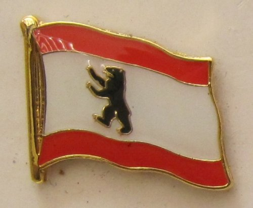 Pin Anstecker Flagge Fahne Berlin Bär Berliner Stadtflagge Flaggenpin Badge Button Flaggen Clip Anstecknadel