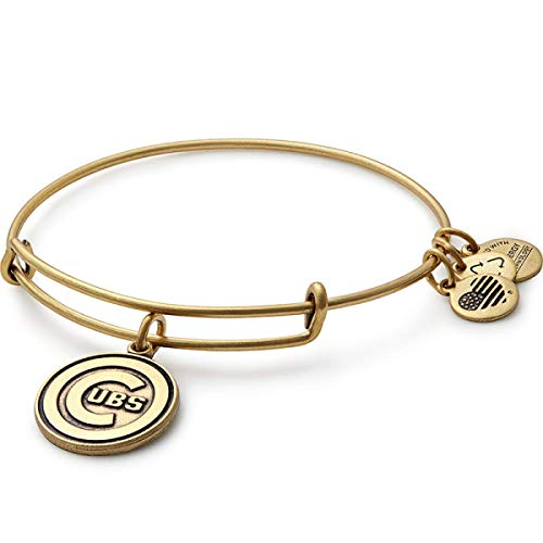 Alex and Ani Women's MLB Chicago Cubs Charm Bangle Rafaelian Gold Finish Bracelet