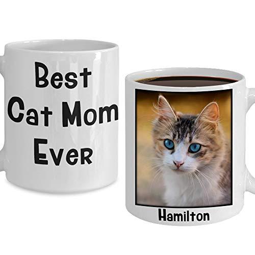 Irma00Eve beste kat moeder ooit mok gepersonaliseerd huisdier foto naam mok cadeau voor kat liefhebber kat moeder van kat verjaardag opslag aangepaste kat foto koffiebeker